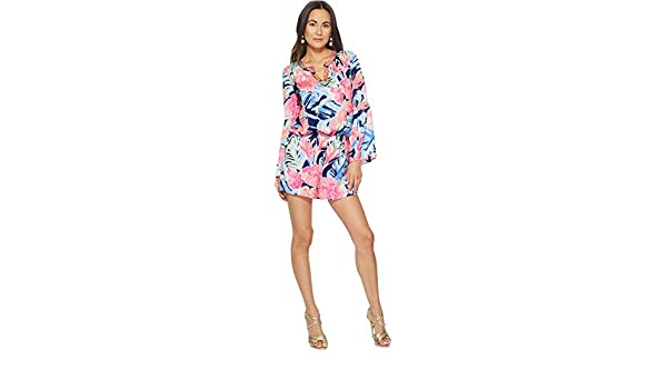 222d748a1bd4 Amazon.com  Lilly Pulitzer Women s Ariele Romper High Tide Navy ...