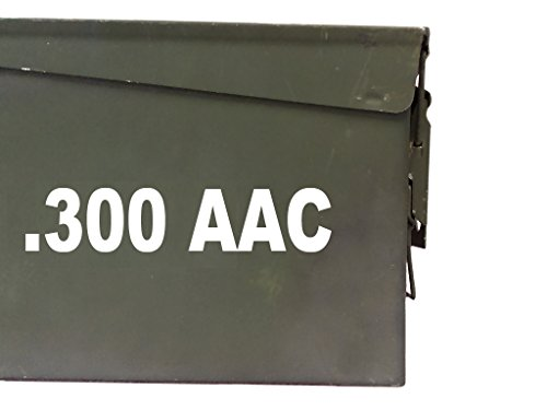 FGD-300-AAC-Ammo-Box-Decal-Sticker-Label-Set-Two-8x15-One-4x075-Labels-Only-Ammo-Can-NOT-Included