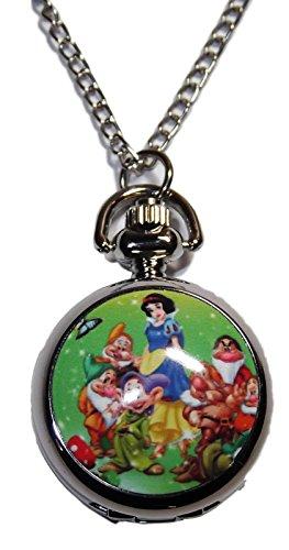 Disney's Snow White & The Seven Dwarfs Pendant Pocket Watch