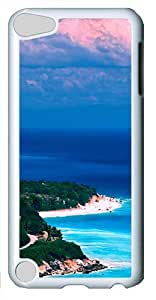 iPod Touch 5 Case and Cover -Caribbean coast PC case Cover for iPod Touch 5¨C White