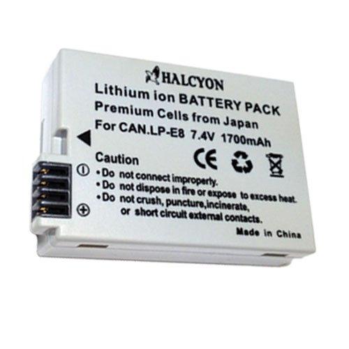 LP-E8 Lithium Ion Replacement Battery for Canon EOS Rebel T2i T3i Digital SLR Camera DavisMAX Bundle by DavisMAX