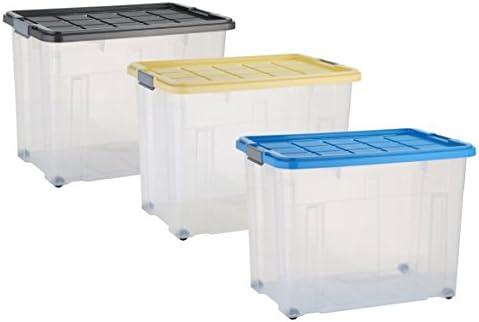 unibox apilables Box – Caja de almacenaje Caja 80 L: Amazon.es: Hogar