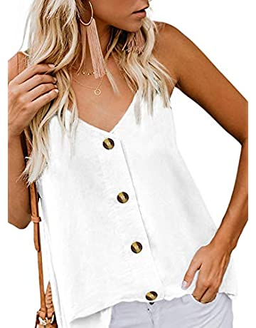 5fce5f6f69c Women's Swimwear Cover Ups and Wraps. Lightning deals. Fronage Womens  Button Down V Neck Tank Tops Loose Strappy Cami Casual Sleeveless Shirts  Blouse