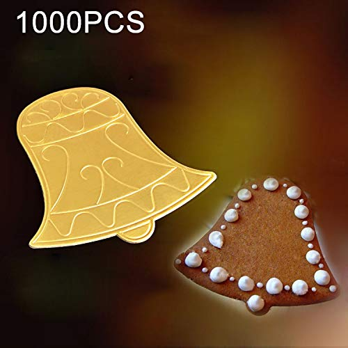 Food Molds 1000 PCS Bell Cake Cardboard Pad Thick Rigid Golden Cake Mousse Cake Mat Household Food by LUOFUSHENG