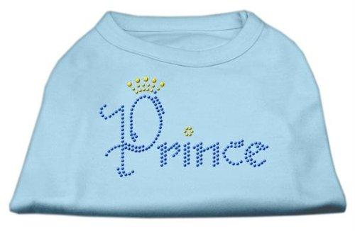 Mirage Pet Products Prince Rhinestone Pet Shirt, X-Small, Baby Blue