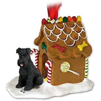 Amazon.com: Black Schnauzer Gingerbread House Christmas ...