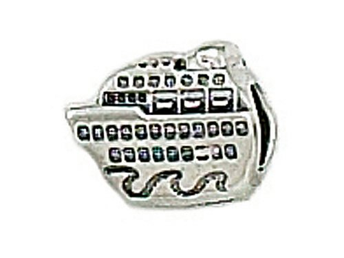 Zable Sterling Silver Cruise Ship Bead / Charm