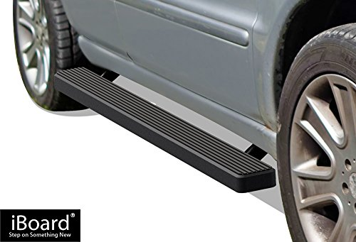 APS iBoard (Black Powder Coated 5 inches) Running Boards | Nerf Bars | Side Steps | Step Rails for 1998-2005 Mercedes-Benz M-Series Sport Utility (2000 Series Guard Rail)