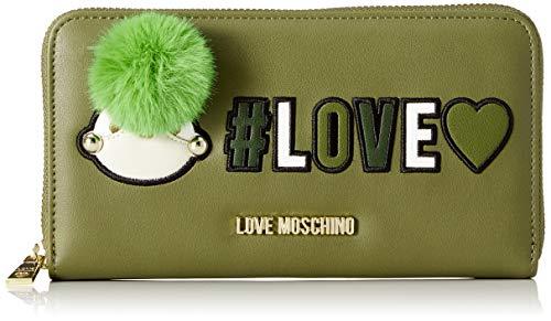 Love Moschino Portafogli® - portafolios para mujer, Green (Verde), 3x11x20 centimeters (B x H x T)