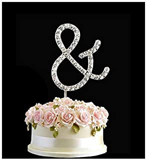 rhinestone silver birthday anniversary cake topper letter sign symbol pick and crystal diamante decoration
