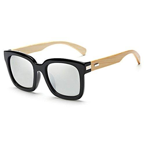 Mercurio de Gafas Oversized Hombre Shades Mujer Bamb¨² Highdas de Blanco Madera Negro Sol Brazo wIpPpEqfC