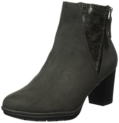 234 25318 Gris Mujer Com anthracite Para Marco Tozzi Botines 64qRHA