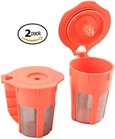 STK Carafes 2 Count Refillable Filters for Keurig 2.0 K350 K550 K250 K450 K300 K500 K400 K460 K560 Brewers By Sterlingtek