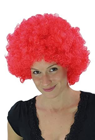 Party/Fancy WIG ME UP ® - Peluca afro rojo chillón, Tokio, Foxy