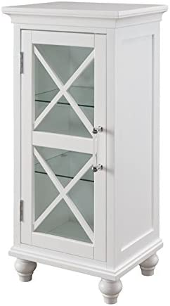 Elegant Home Fashions Blue Ridge Floor Cabinet in White