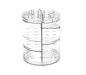360 Degree Rotating Makeup Organizer,Adjustable Multi-Function Cosmetic Storage Box Make Up Display Stand, with Large Capacity,Fits Different Types of Cosmetics and Accessories