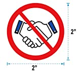 No Handshakes Stickers 2 Inch - Circle Dot Hygienic Stickers 120 Labels Per Pack