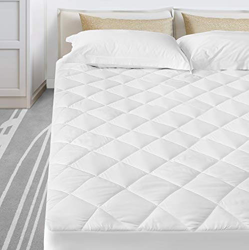 Vekkia Twin Mattress Cover Pad - Deep Pocket Fits up to 8'-21' Good for Bed Topper-White