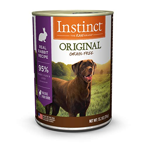 Instinct Original Grain Free Real Rabbit Recipe Natural Wet Canned Dog Food by Nature's Variety, 13.2 oz. Cans (Case of - Original Food Rabbit