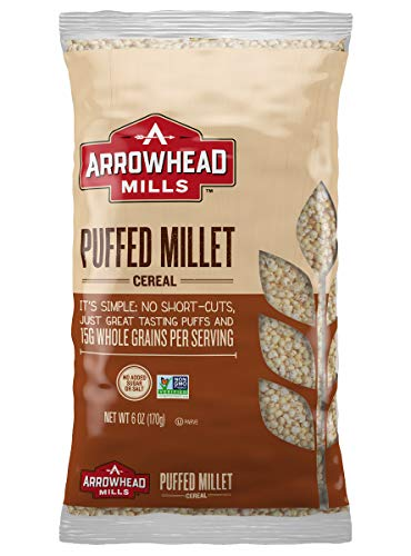 Arrowhead Mills Cereal, Puffed Millet, 6 oz. Bag (Pack of 12)]()