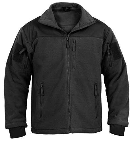 Rothco Spec Ops Tactical Fleece Jacket, Black, X-Large