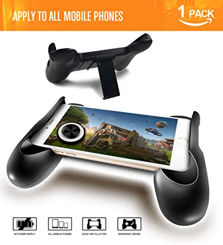 PUBG Mobile Controller,Android Gaming Controller Mobile Gamepad Fortnite Ergonomic Design Handle Holder Support 4.5 to 6.5 Smartphone (Black) by LEIIAO