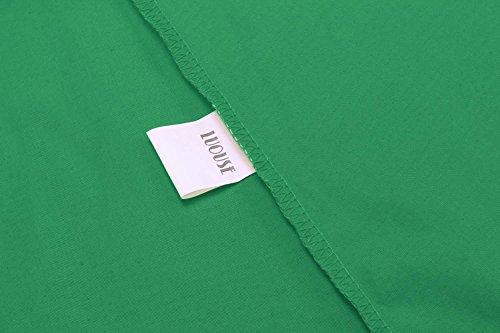 Dozenla Plissé Robes Rétro Robe Bustier Midi Pour Les Femmes 1950 Robes Vintage Swing Pour Les Femmes, Plus La Taille Des Robes Vertes
