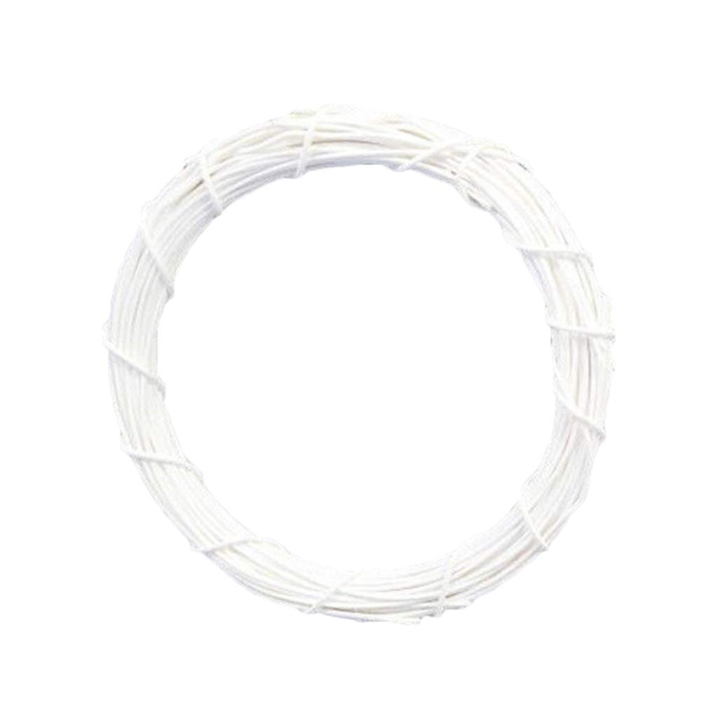 Yamalans Solid Color Rattan Round Wreath Hoop Hanging Xmas Garland DIY Front Door Wall Wedding Christmas Decor White 10cm