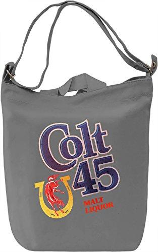 Spicoli's Colt 45 Borsa Giornaliera Canvas Canvas Day Bag| 100% Premium Cotton Canvas| DTG Printing|