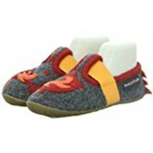 Haflinger 483113 04 - Zapatillas de estar por casa para niño gris