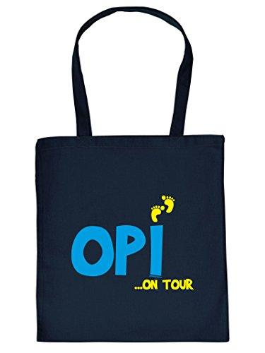 OPI .. ON TOUR -Tote Bag Henkeltasche Beutel mit Aufdruck. Tragetasche, Must-have, Stofftasche. Geschenkidee