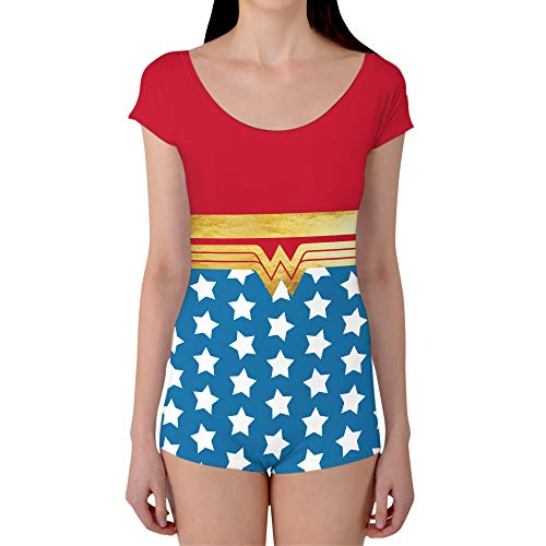 Wonder Woman Super Hero Inspired Boyleg Leotard - XS