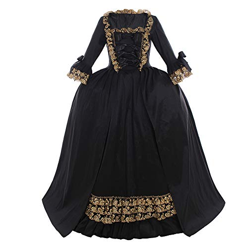 CosplayDiy Women's Rococo Ball Gown Gothic Victorian Dress Costume (M, Style B)
