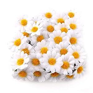 Artificial Fowers 100Pc/Lot 2.5Cm Mini Daisy Decorative Flower Artificial Silk Flowers Party Wedding Decoration Home Decor(Without Stem) Cheaper 29