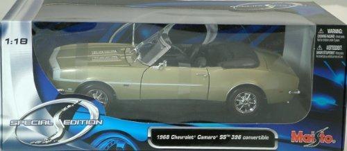 Maisto 1968 Chevrolet Camaro SS 396 Convertible Gold