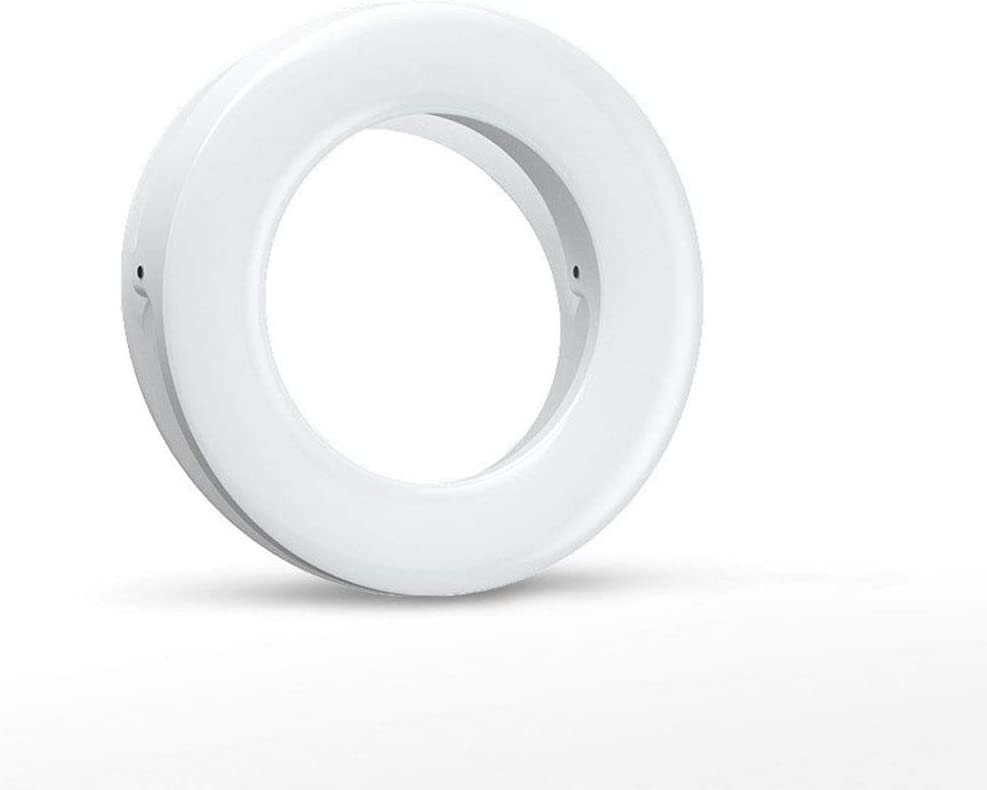 Color : Pink DFYYQ LED Mini Ring Light for Phone Round Clip Promise Adjust Brightness Fill Light USB Charging Selfie Light Flashes