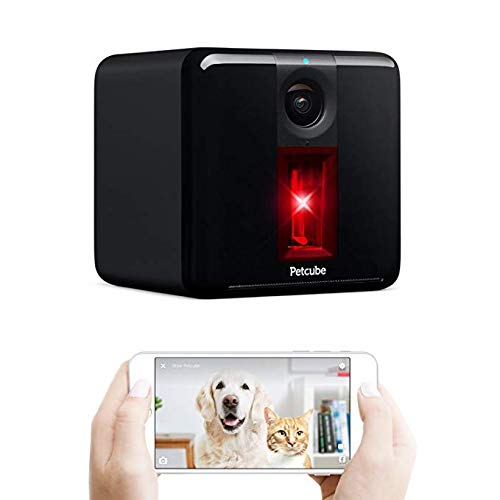 Petcube Play Interactive Wi-Fi Pet Camera: HD 1080p Video, 2-Way Audio, Night Vision, and Laser Toy. Compatible with Amazon Alexa (As seen on Ellen) (Renewed)