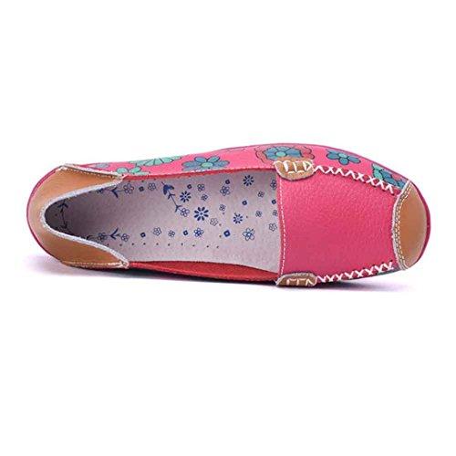 Vovotrade? Zapatos Casual de Cuero Para Mujer (UE: 36, Blanco)