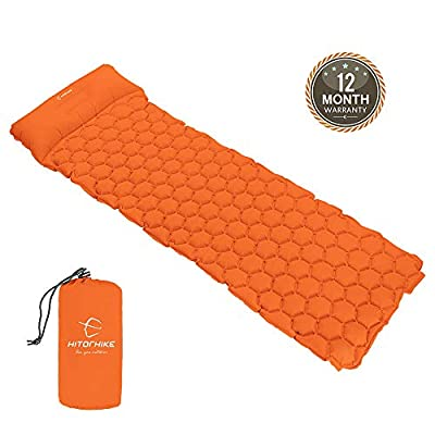 Hitorhike Backpack Sleeping Pad | Lightweight Camping Sleeping Bag Pad | Ultralight & Compact & Inflatable Air Mattress Pad-Insulated Air Mat | for Camp,Backpacking,Hiking,Scouts,Travel