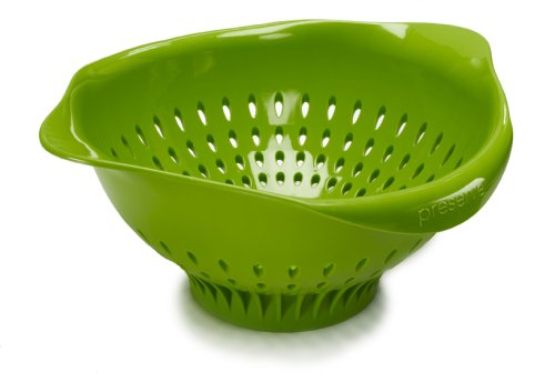Preserve Large Colander Made from Recycled Plastic, 3.5 Quart Capacity, Green