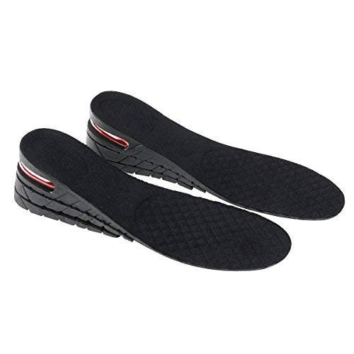 Pixnor 3-Layer Air up Height Increase Elevator Shoes Insole  - 7 cm (approximately 2.8 inches) Heels Inserts for Men and Women