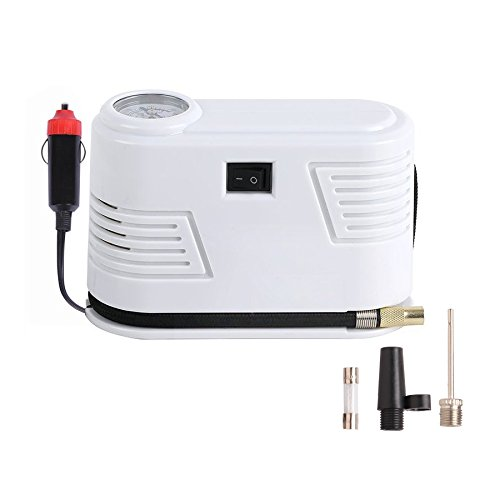 HCL Car Pump Air Compressor 12v DC Auto Portable Tire Inflator Pump to 150 Psi ABS White Material / Charge Faster / Display more Accurate: