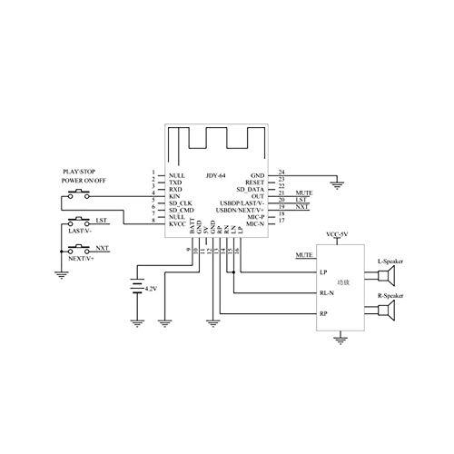 Alextry Audio-Codierung der Stromversorgungskarte des Headset-Headset-Moduls ohne Bluetooth-Perfekte von JDY-64 4.2 hohe Treue