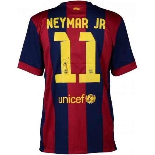 Neymar FC Barcelona Autographed Red   Blue Jersey - Fanatics Authentic  Certified - Autographed Soccer Jerseys 3ab39fff8