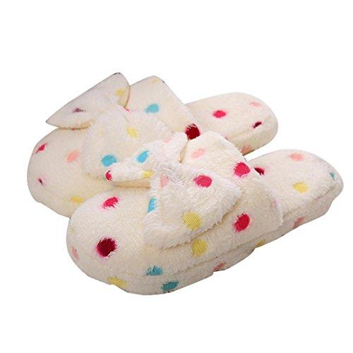 Sandales Beige Papillon Pantoufle Pantoufles Appartement Chaussures Femmes Doux Noeud Duveteux Des Fiasco Coton Chaussons Aux Confortable Lolittas Flip Famille vwTZUqv8H