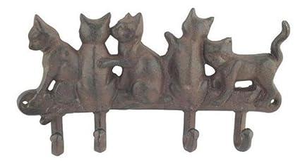 SIGNES Perchero Percha, Hierro, Gatos 15 cm: Amazon.es: Hogar