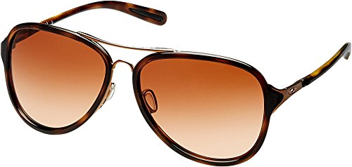 Oakley Women's Kickback Aviator Sunglasses, Satin Rose Go...