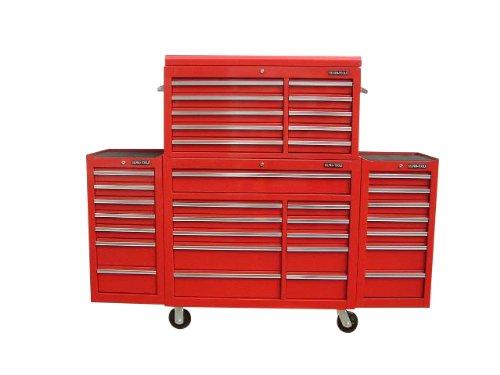 US PRO TOOLS Werkzeugwagen Werkzeugkasten komplett mit 2 x Seite Rot Vitrinenlement