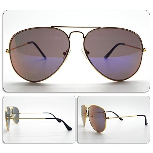Homme Unisexe 043 goutte de Sunglasses Lunettes Gold Femme soleil Art Aviator UZtqAXxS