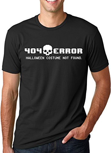 [404 Error Costume Not Found T Shirt Funny Halloween Tee (black) M] (Super Nerdy Costume)